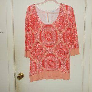 Soft Surroundings Printed Sweater Size Medium